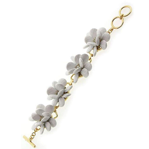 White Flower Statement Bracelet - JaeBee Jewelry