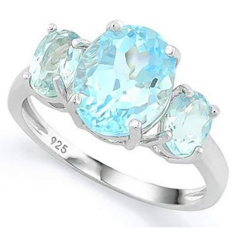Baby Swiss Blue Topaz Sterling Silver Ring - JaeBee Jewelry