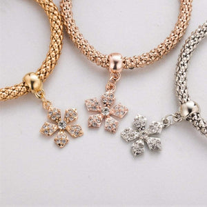 Tri Colored Flower Charm Bracelets - JaeBee Jewelry