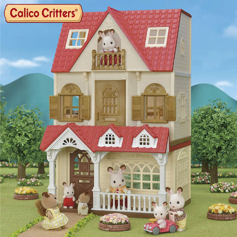 Calico Critters Red Roof Cozy Cottage + Sweet Raspberry Home
