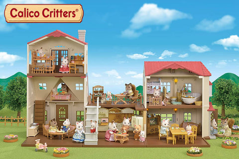 Calico Critters Red Roof Country Home + Cozy Cottage
