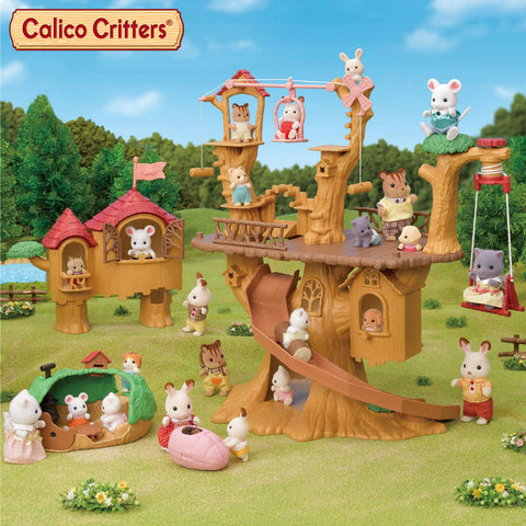 Calico Critters Baby Ropeway park + Adventure Tree House