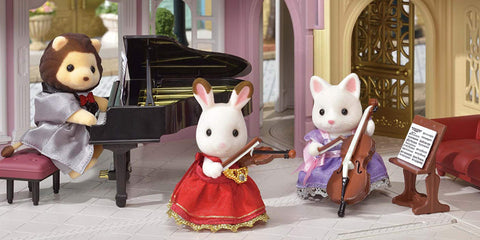 Calico Critters Town Musician Concert Sets: Piano, Violin, & Cello