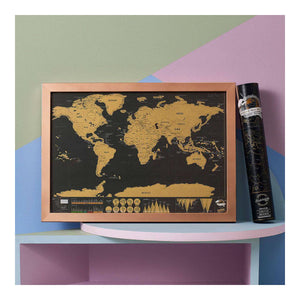 Scratch Map Deluxe Travel Edition - World Map