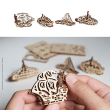 Load image into Gallery viewer, UGears U-Fidgets Ships 4 Pack