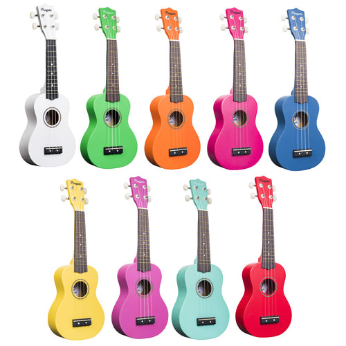 Amahi Painted Solid Color Ukuleles
