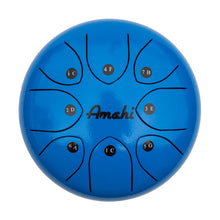 "Load image into Gallery viewer, Amahi Steel Tongue Drum - 8"" Blue"
