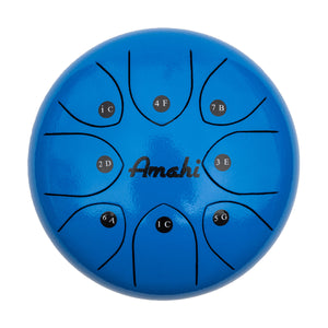 "Amahi Steel Tongue Drum - 8"" Blue"