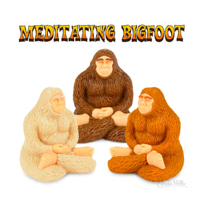 Meditating Bigfoot from Archie McPhee
