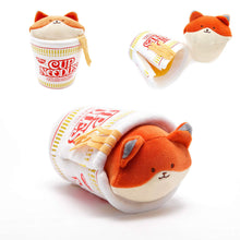 "Load image into Gallery viewer, Annirollz Nissin Cup of Noodles 6"" Plush with Blanket Foxiroll"