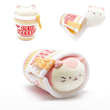 "Load image into Gallery viewer, Annirollz Nissin Cup of Noodles 6"" Plush with Blanket Kittiroll"