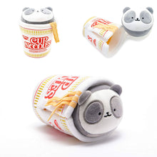 "Load image into Gallery viewer, Annirollz Nissin Cup of Noodles 6"" Plush with Blanket Pandaroll"