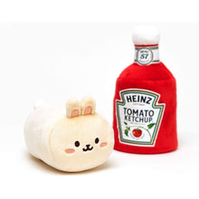 "Load image into Gallery viewer, Bunniroll Anirollz Heinz Catsup 6"" Plush with Blanket"