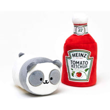 "Load image into Gallery viewer, Panda Anirollz Heinz Catsup 6"" Plush with Blanket"