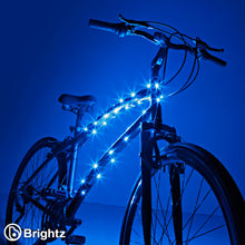 Load image into Gallery viewer, Blue Cosmic Brightz Bike Frame Lights