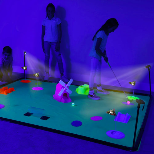 4Fun Deluxe Cosmic Glow Mini Golf from B4Adventures