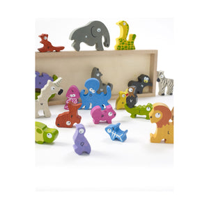 Animal Parade A to Z Wooden Puzzle Playset from Begin Again