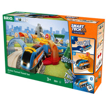 Load image into Gallery viewer, Brio Smart Tech Sound Action Tunnel Travel Set