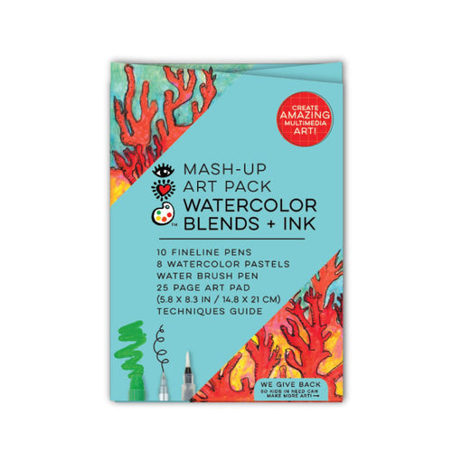 Watercolor Blends + Ink - Mash Up Art Pack