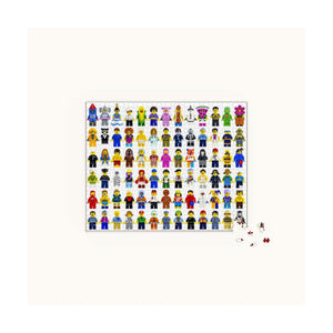 LEGO Minifigure Puzzle - 1000 pc Jigsaw Puzzle from Chronicle