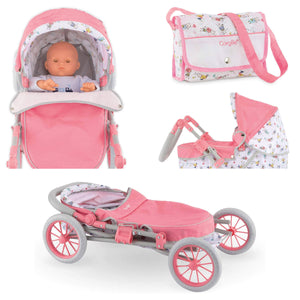 Corolle Baby Doll Carriage and Bag Set