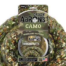 Load image into Gallery viewer, Crazy Aaron's Woodland Camo Thinking Putty