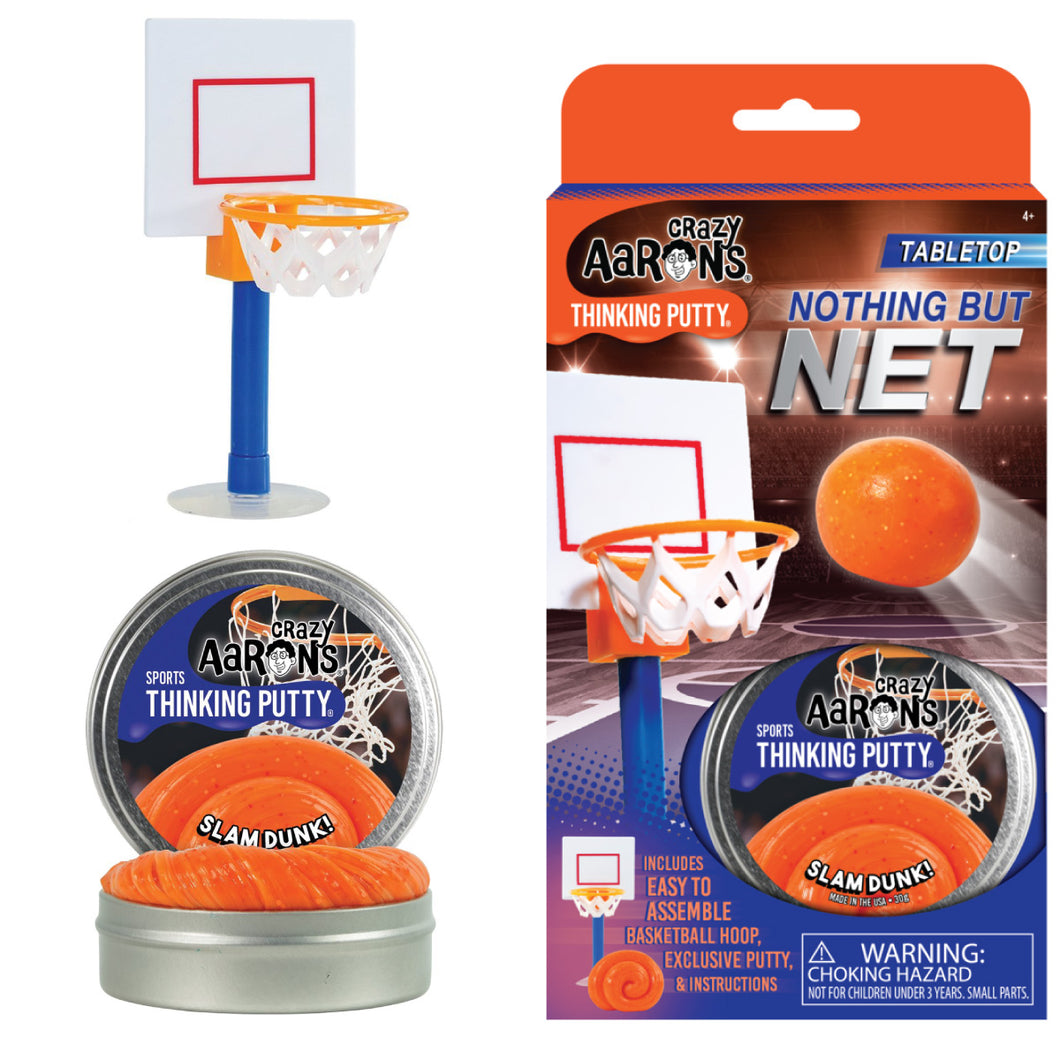 Nothing But Net Basketball Slam Dunk Thinking Putty Desktop Sports