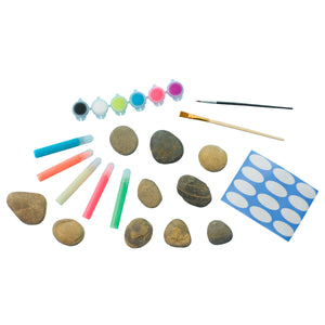 Glow in the Dark Rock Painting Kit Contents from Creativity for Kids
