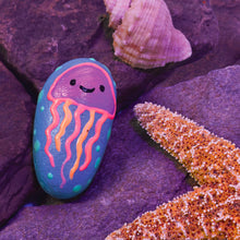 Load image into Gallery viewer, Jellyfish Example of Glow in the Dark Rock Painting from Creativity for Kids