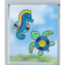 Load image into Gallery viewer, Creativity for Kids Window Art Kits Ocean Friends
