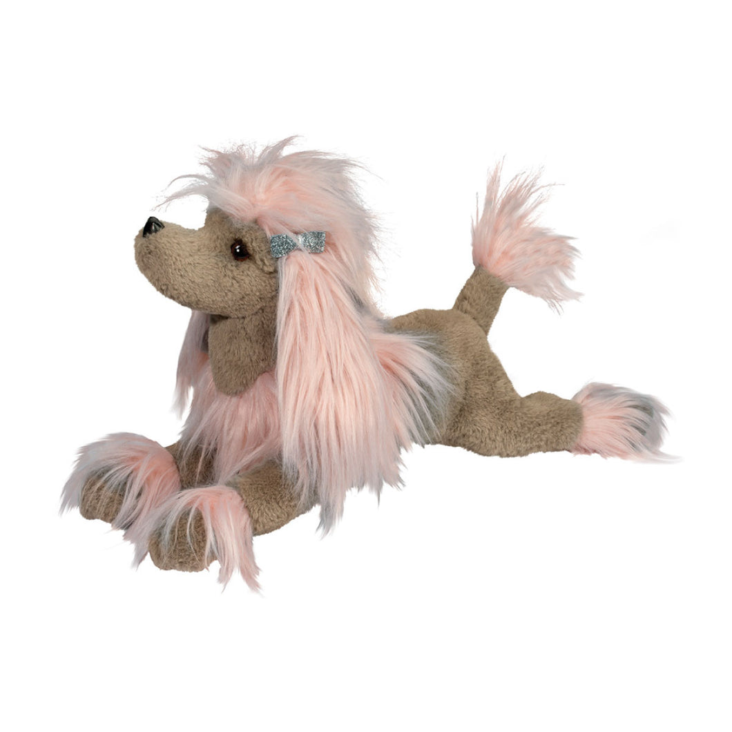 Zaza the Pink Poodle Fur Fuzzle from Douglas Cuddle Toys