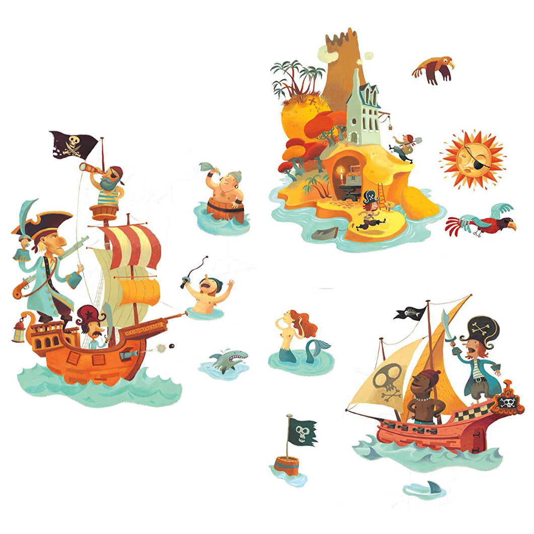 Treasure Island Wall Stickers from Djeco
