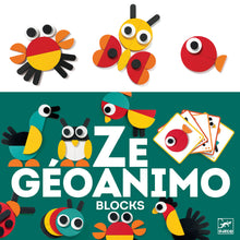 Load image into Gallery viewer, Djeco Ze Geoanimo Wooden Block Puzzle