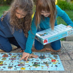Upcycled Robots - 100 pc Search & Find Jigsaw Puzzle from Eeboo