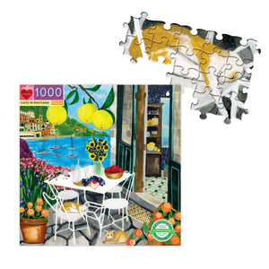 Cats in Positano - 1000 pc Puzzle