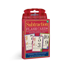 Flash Cards - Subtraction from eeBoo
