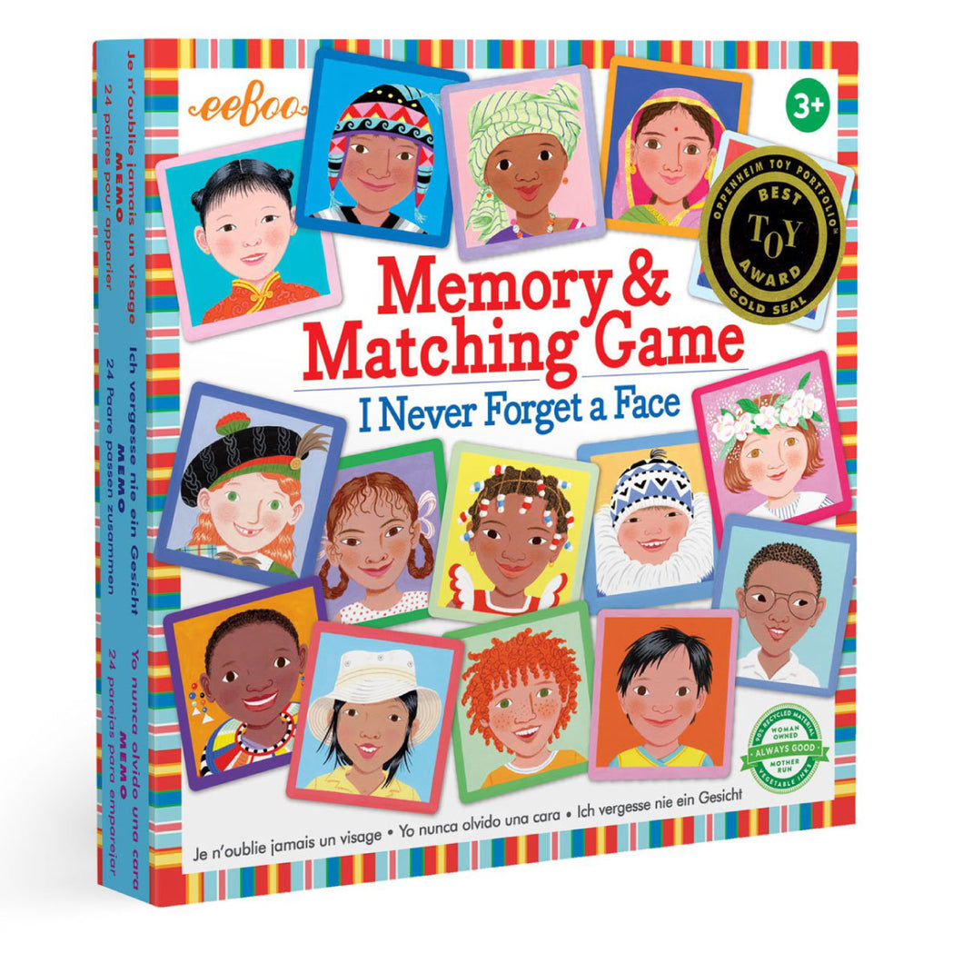 I Never Forget a Face Matching & Memory Game from eeBoo