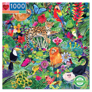 Amazon Rainforest Jigsaw Puzzle - 1000 pc from Eeboo