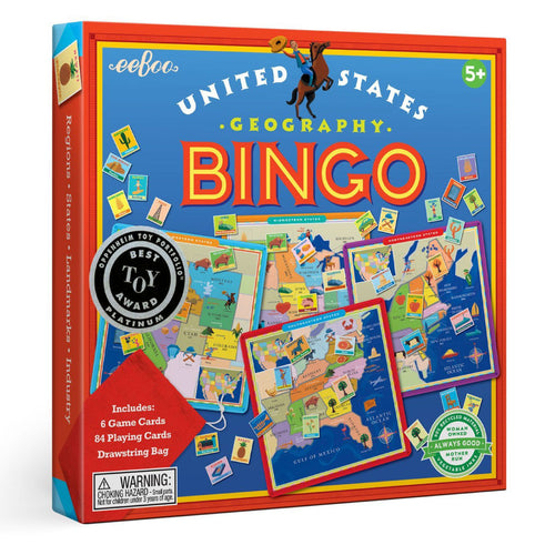United States Bingo Game from eeBoo