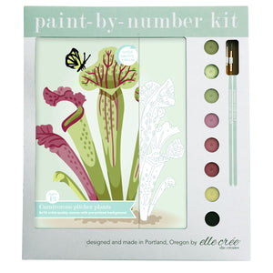 Elle Cree Paint By Numbers - Carnivorous Pitcher Plants