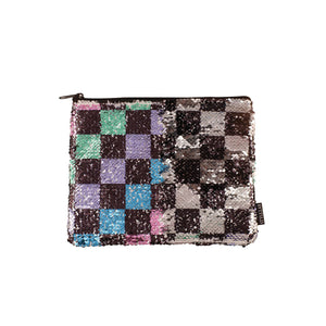 Checkerboard Magic Sequin Pouch