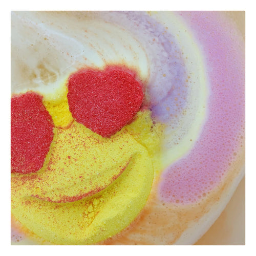 Rainbow Fun + Fruity Emoji Bath Bomb from Feeling Smitten