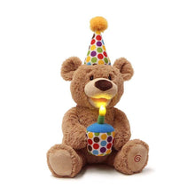 Load image into Gallery viewer, Animated Happy Birthday Teddy Bear 12in from Gund