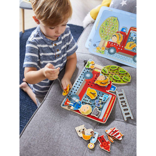 Fire Truck Threading Board from Haba