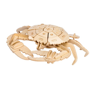 Hands Craft 3-D Wooden Puzzles Crab
