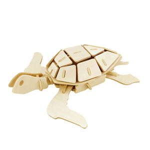 Hands Craft 3-D Wooden Puzzles Sea Turtle