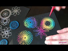 Load and play video in Gallery viewer, Spirograph Scratch and Shimmer Set