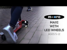 Load and play video in Gallery viewer, Mini Deluxe Scooter LED Wheels - Green