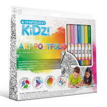 Load image into Gallery viewer, Chameleon Kidz Blend & Spray Art Portfolio - 14 Markers