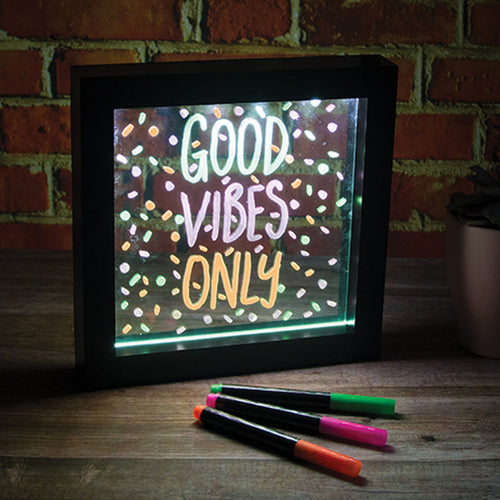 Light Up Neon Effect Message Frame from iScream